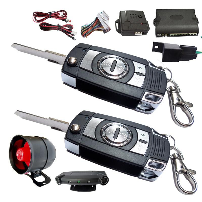 Système de sécurité d'alarme de voiture verrouillage central à distance déverrouillage capteur à ultrasons de porte de voiture et capteur de choc double déclencheur de mode d'alarme