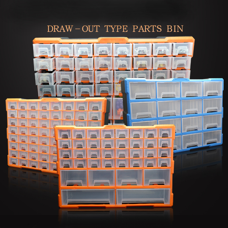 New Toolbox Tool Case Parts Box Classification Of Ark Multi-grid Drawer Type Parts Bin Screw Classification Component Box