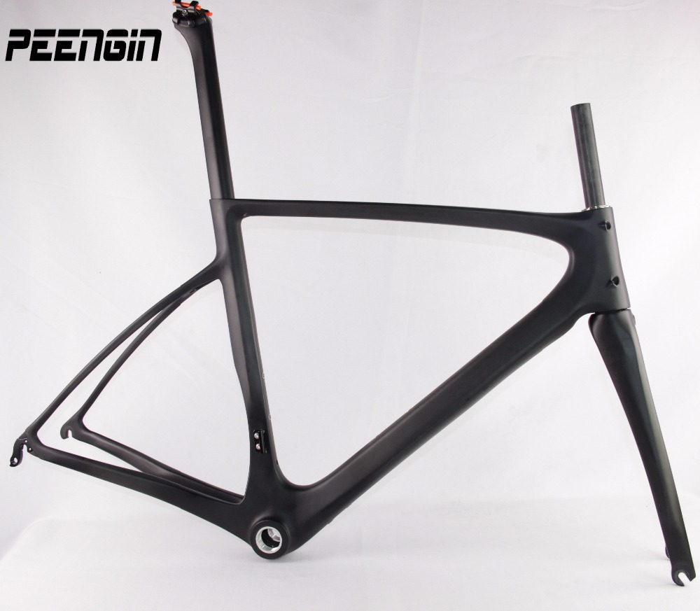 Excellent quality DIY Cheap price high end 700C oem carbon bike frame road bicycles frameset with fork from Chinse factory price 1 piece high quality with cheap price