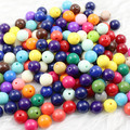 Choice Size 6.8.10.12.14.16.18 20mm Mixed Acrylic Solid Beads AAA Round Beads for Kids Necklace DIY Jeweley K01751