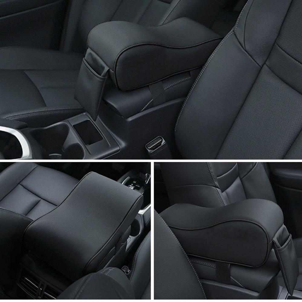 Universal Thickened Leather Car Armrest Cushion Pad Console Cover Phone Pouch 1x