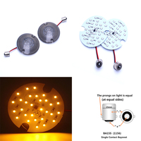 2X 27 SMD LED 1156 Rear Turn Signal Panel Light With Two Smoke Lens For Harley