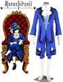 Free Shipping Black Butler Kuroshitsuji Ciel Phantomhive Boy Lolita Blue Suit Anime Cosplay Costume