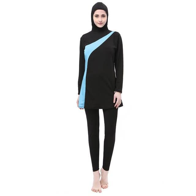 US $16.31 49% OFF|Muslim Swimwear Women Islamic Swim Wear Plus Size Ladies  The Modest Bathing Suit Muslim Swimming Suit Islam Full Cover Clothes-in ...