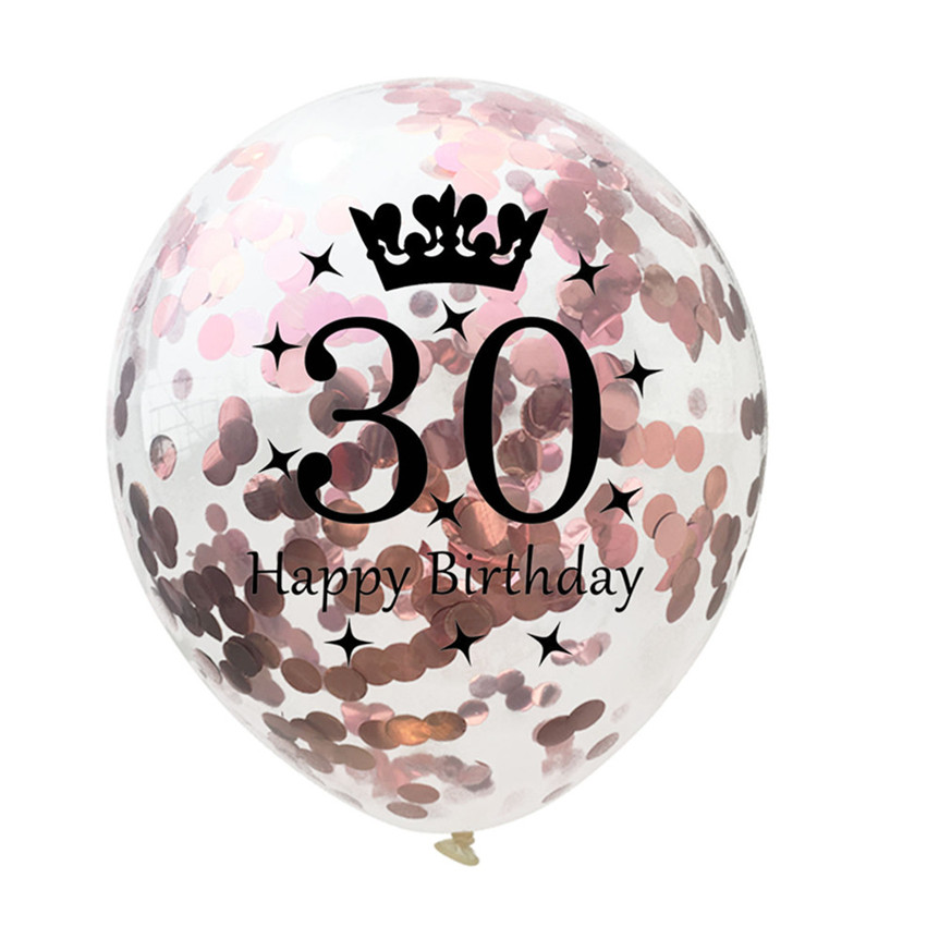 5PCS Foil Latex Balloon Set 18/21/30/40/50 Years Old Happy Birthday Balloons Birthday Party Decor Drop Shipping 8M29