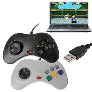 Image 1 - 1 قطعة USB الكلاسيكية غمبد تحكم السلكية أذرع التحكم في ألعاب الفيديو Joypad ل سيجا زحل قطعة USB غمبد تحكم