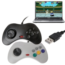 1 adet USB klasik Gamepad denetleyici kablolu oyun denetleyicisi Joypad Sega Saturn PC USB Gamepad denetleyici