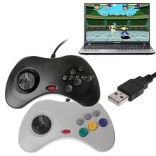1PC Classic USB Gamepad Controller Wired Controller di Controller di Gioco Joypad per Sega Saturn PC USB Gamepad Controller