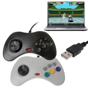 Image 1 - Классический USB контроллер для геймпада, 1 шт., проводной игровой контроллер, джойпад для Sega Saturn PC, USB контроллер для геймпада