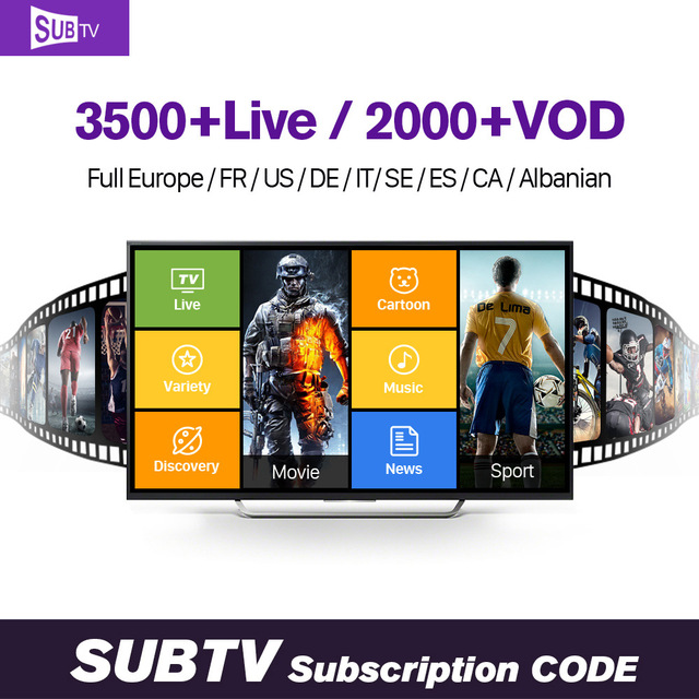 US $38 49 |Europe QHDTV IUDTV SUBTV 1 year IPTV Subscription Code 3500  Channels Germany French Spanish Italy Arabic IPTV Smart Media Player-in  Set-top