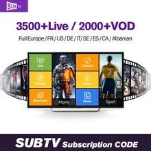 Europe QHDTV IUDTV SUBTV NeoTV 1 year Subscription IPTV Code 3500 Channels Germany French Spanish Arabic IPTV Smart Media Player mannequin