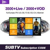 Europe QHDTV IUDTV SUBTV NeoTV 1 year Subscription IPTV Code 3500 Channels Germany French Spanish Arabic IPTV Smart Media Player