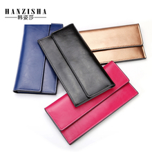 2017 Fashion Genuine Leather Women Wallet Long Purse Multiple Credit Cards Holder Clutch Standard Cowhide Leather Women Purse