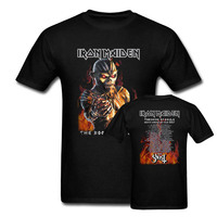 Iron Maiden Heavy Metal Rock T Shirt The Book Of Soul 2017 Concert Tour Dates With