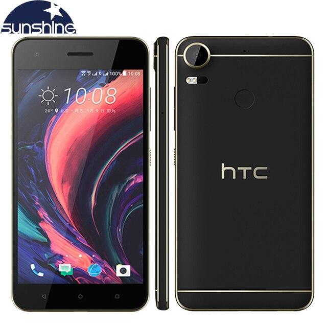 Оригинальный HTC Desire 10 Pro 4 г LTE мобильный телефон 5.5 ''20MP Octa core 4 ГБ Оперативная память 64 ГБ Встроенная память Dual SIM 3000 мАч отпечатков пальцев Смартфон