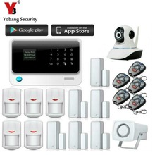 YobangSecurity Contact Keypad Wifi GSM GPRS Dwelling Safety Voice Burglar Alarm IP Digicam Smoke Detector Door PIR Movement Sensor
