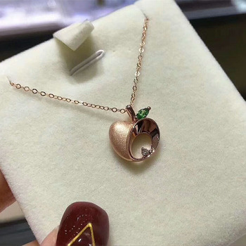 Christmas giftChristmas gift Jewelry Au750 18K Necklac  With national certificate 0003 3