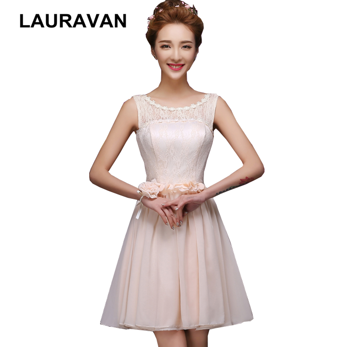 short sexy illusions neckline girl grade 8 bridesmaid cheap corset formal dresses teens gowns ivory champagne color dress