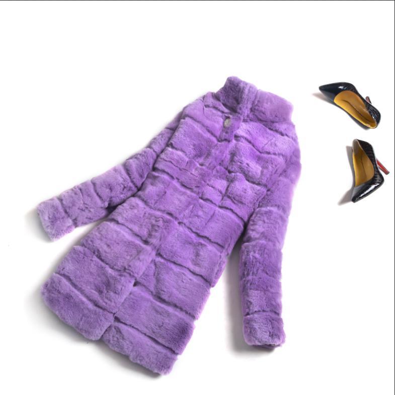 Usine Violet Ksr252 Couleur Chaude beige Fourrure Purple Rasé Véritable Main De Personnaliser Lapin grey khaki black Directe Vente Manteau Outwear Réel fwzpAxFnqf