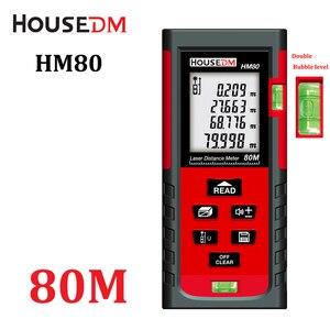 Housedm Laser Meter laser Range finder Laser Distance Meter Roulette 80M Digital laser Rangefinder Measuring toos W/ Retail Box