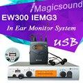 EW300 IEMG3 В Ухо Monitor System с Функцией USB!! высочайшее Качество IEM EW100 G3/G3 IEM EK 300 Мониторинга с в Наушника
