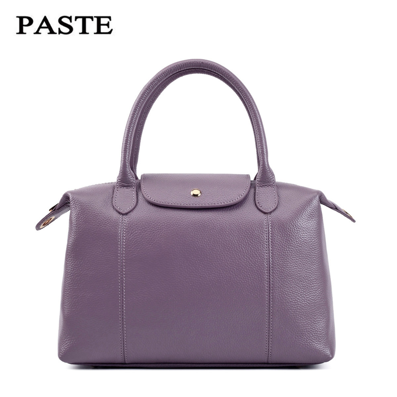 PASTE 100%Genuine Leather Bag Large Women Leather Handbag Famous Brand Women Messenger Bags Big Ladies Shoulder Bag Bolsos Mujer