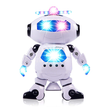 Music Flash Space Dance 360 Degree Rotation Dazzle Dance Infrared Electric Robot Children Toys Plastic Model new 360 degree rotation smart space electric robot dancing music light toy children gift sell hotting