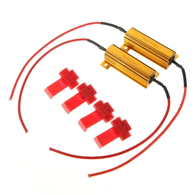 Лидер продаж 2 шт. 50 Вт нагрузки Резисторы светодиодной вспышкой оценить поворотники световой индикатор Пульты ДУ для игровых приставок тор...