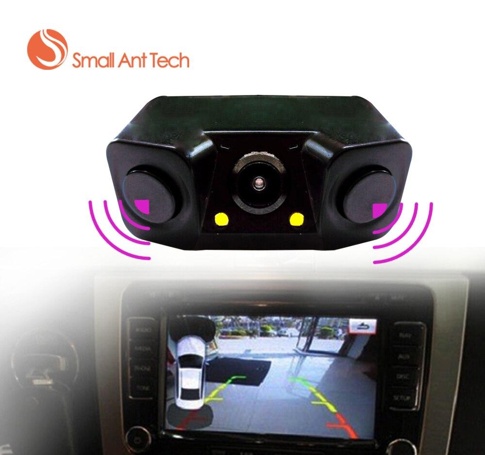 imágenes para Auto Coche Parktronic Sensor de Aparcamiento de Vídeo Bi Bi Alarma con cámara trasera + 2 Sensor de Vídeo Display Indicador Del Revés Del Coche Sensor