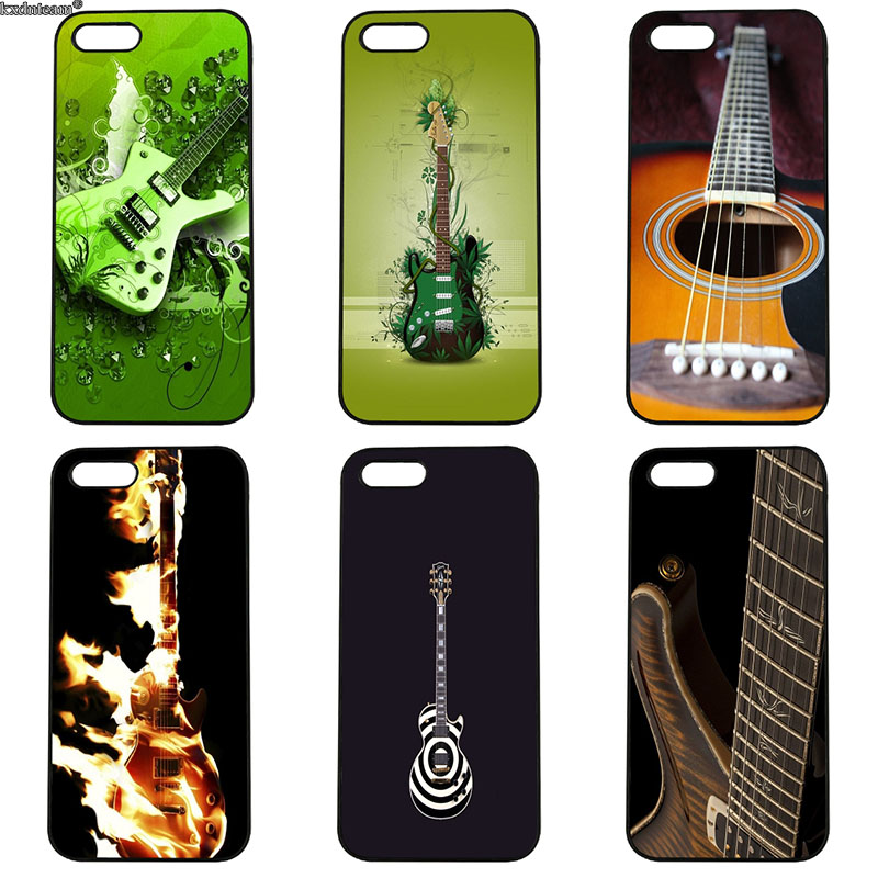 Piano Guitar Music Newest Super Cute Phone Cases for iphone 8 7 6 6S Plus X 5S 5C 5 SE 4 4S iPod Touch 4 5 6 Shell Hard PC Cover