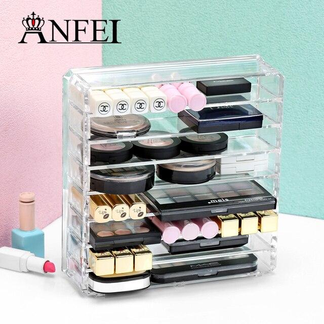Anfei Fashion Klaren 8 Schicht Kosmetik Display Lippenstift Halter