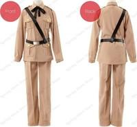 Axis Powers Hetalia APH Spain Antonio Fernandez Carriedo Cosplay Costume Anime Custom Made Army Uniform