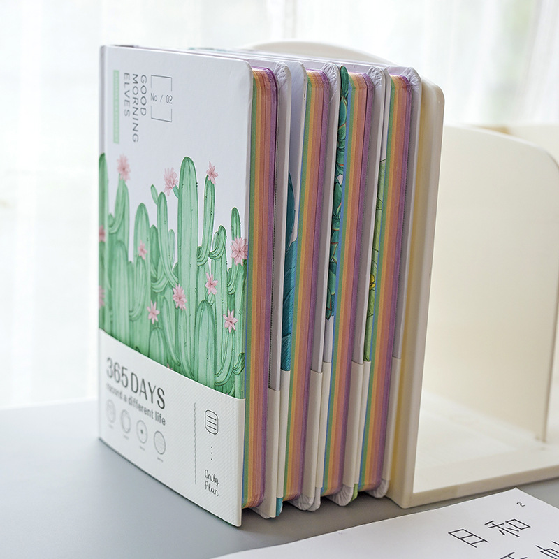 Green World Hard Cover 365 Days Project Monthly Daily Planner Study