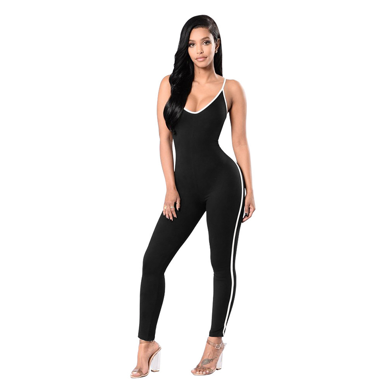 2019 New Style Sportswear Rompers New Black Summer Sleeveless Women Casual 2019 Red Jumpsuits Pants Solid New Long Overalls Jumpsuit Boho Style Matching In Colour