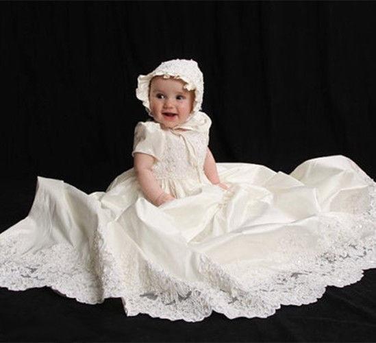 Heirloom Ağ Fil Dişi Uşaq Qızları Kristinasiya Paltar ölçüsü - Körpələr üçün geyim - Fotoqrafiya 2