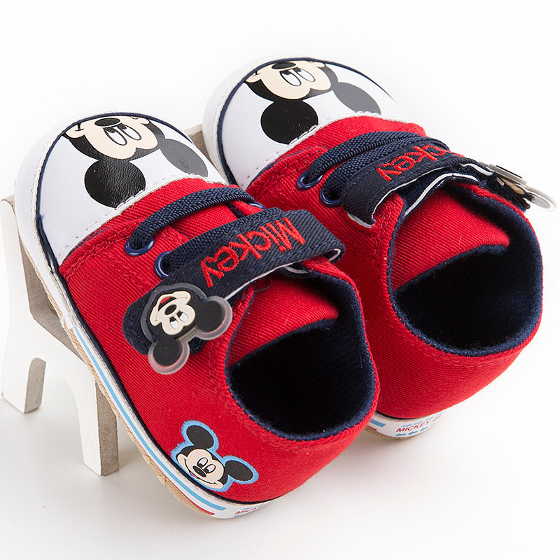 Disney Mickey Cartoon Fashion Shoes Sneakers for Toddler Newborn-Baby Girl and Boy 0-18M