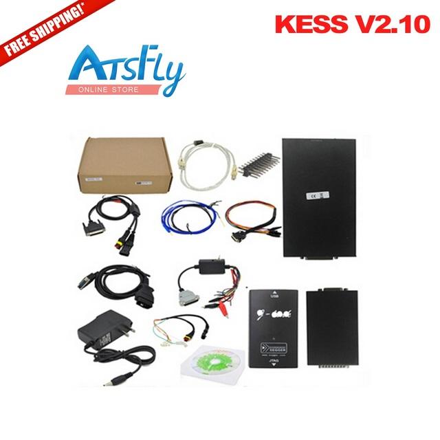 Envío Libre caliente Nuevos V2.10 KESS V2 OBD2 Gerente Sintonía Kit No Token Maestro Kess V2