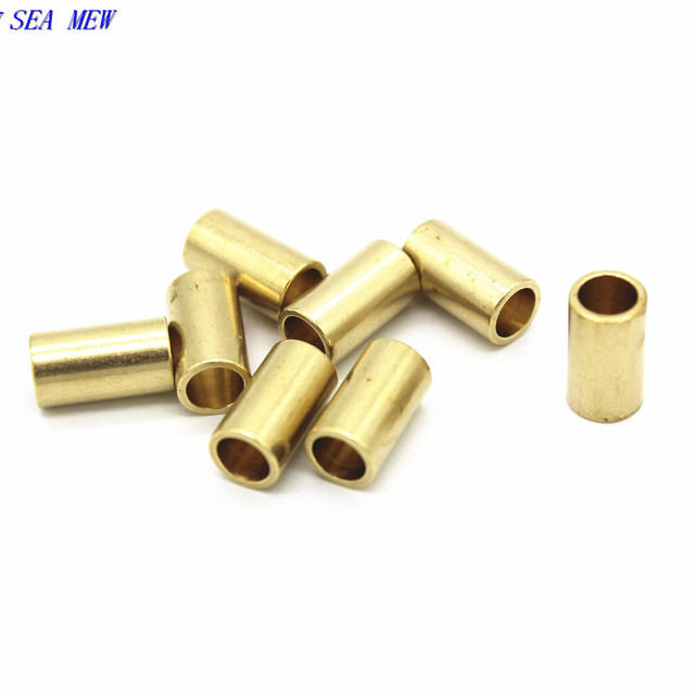 SEA MEW 55mm95mm Raw Brass Tube Beads DIY Jewelry Findings For Making Component 100PCS