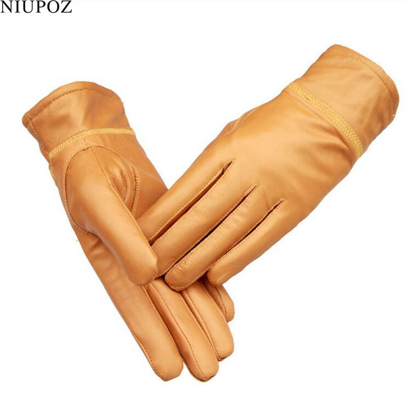 2017 New Fashion Female Genuine Leather Sheepskin Glove Real