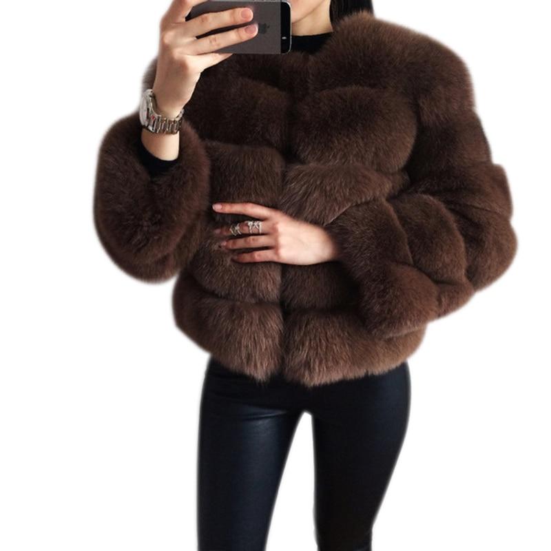 BFFUR Réel Manteau De Fourrure de luxe Femmes Hiver Style De Mode Fourrure Naturelle Gilet Dame Fourrure De Renard Ensemble Manteaux Top Qualité Réel fourrure C0011