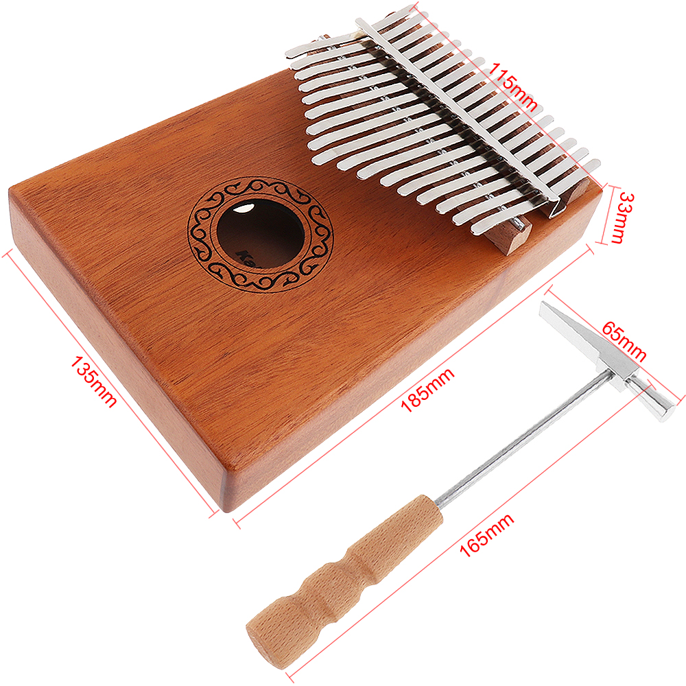 Купить с кэшбэком 17 Key Finger Kalimba Mbira Sanza Thumb Piano Pocket Size Beginners Supporting Bag Keyboard Marimba Wood Musical Instrument