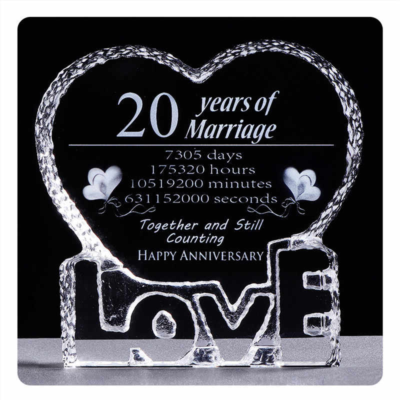 20th Anniversary Wedding Decorations Artificial Crystal Symbolize