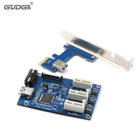 PCIe 1 To 3 PCI E Riser Card Mini ITX To External 3 PCI E Slot