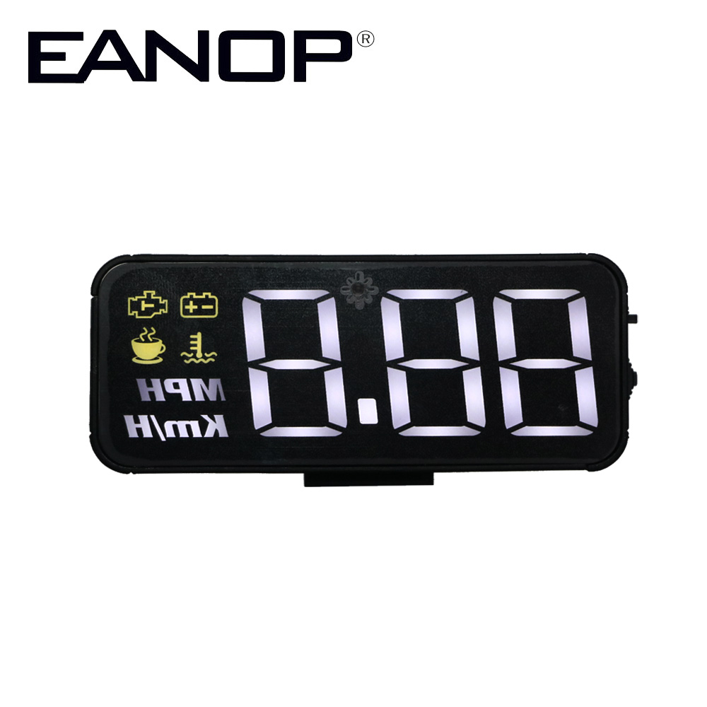 EANOP Smart HUD Heads Up Display Car OBD2 Digital Speed Meter Projector Voltage Over-Speed Alarm For Universal Cars