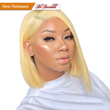 ALI ANNABELLE 613 Blonde Lace Wigs For Black Women 13*4 Pre plucked Lace Front Wigs Brazilian Short Bob Wigs With Baby Hair(China)