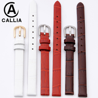 Casual Balanceds Women Watchbands For AR Citizen Tissot Watch Strap Band Genuine Calf Hide Leather 6MM