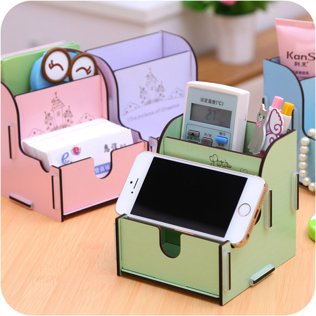 Multifunctional mobile phone holder cell phone holder diy mini multifunctional mobile phone holder cell phone holder diy mini desktop business card box storage box finishing reheart