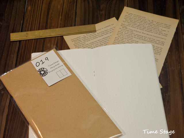 Travelers' notebook refill book core midori standard type 019 Dot painting line