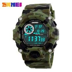 SKMEI Military Sports Watch Men Alarm 50M Waterproof Watch LED Back Light Shock Digital Wristwatches Relogio Masculino 1019