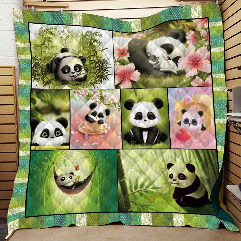 Summer Panda Quilt Kids Back To School Adults Bed Sofa Warm Thin Blanket Cotton King Size Outdoor Camping Picnic Soft Quilt